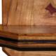 Gummy Cherry Mirror Frame - gum line cherry, wenge inlay, Craftsman style, key shelf