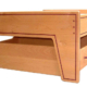 Alder Train Table - made from alder with purpleheart inlays.  Fits standard size train table mats.